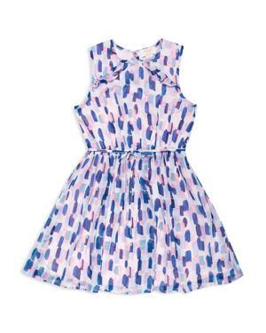 kate spade new york Girls' Brushstroke Ruffle-Back Dress - Big Kid