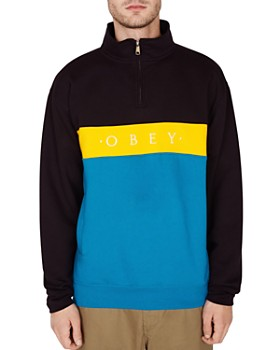 0506f5b513 OBEY - Chelsea Color-Block Mock Neck Sweatshirt ...