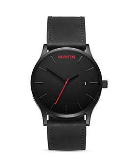 MVMT - Classic Black Leather Watch, 45mm