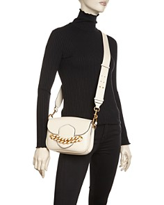Tory Burch - Jessie Chain-Embellished Leather Satchel