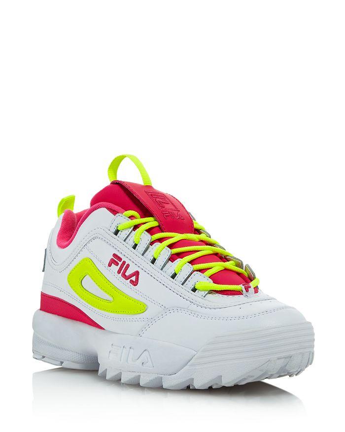 FILA - Women's Disruptor 2 Premium Lace-Up Sneakers - 100% Exclusive