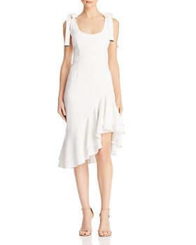 rebecca vallance de jour tie shoulder dress