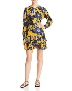 Parker - Hayley Floral Print Keyhole Dress