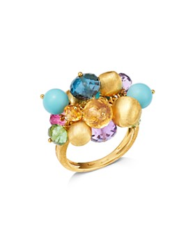 Marco Bicego - 18K Yellow Gold Gemstone Cluster Cocktail Ring