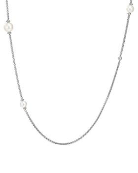 "David Yurman - Pearl Cluster Chain Necklace with Diamonds, 42"""
