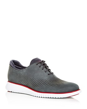Cole Haan - Men's 2.ZeroGrand Perforated Nubuck Leather Oxfords