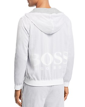 BOSS - Zinc Texture-Layered Track Jacket