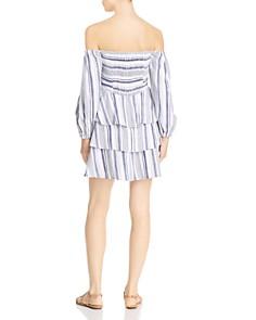 Parker - Bahama Striped Off-the-Shoulder Dress