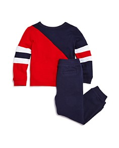 Splendid - Boys' Color-Block Long Sleeve Tee & Jogger Pants Set - Little Kid