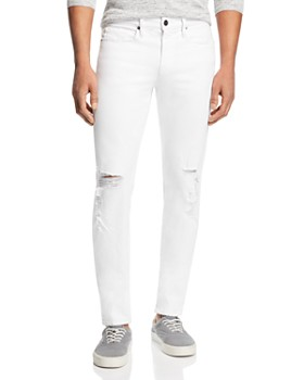 FRAME - L'Homme Skinny Fit Jeans in Blanc Alley