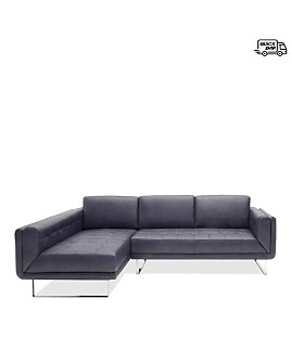 Chateau D'ax - Foster Leather Sectional - 100% Exclusive