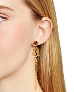 Oscar de la Renta - Birdcage Tassel Clip-On Earrings