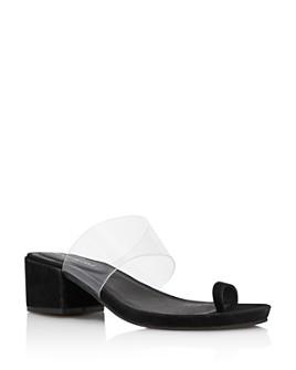 Kenneth Cole - Women's Lizzie Clear & Suede Block Heel Sandals - 100% Exclusive