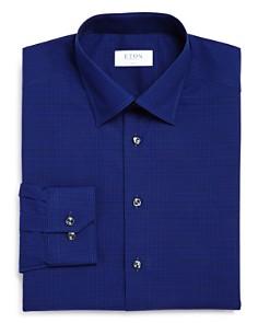 Eton - Tonal Mini-Check Slim Fit Dress Shirt