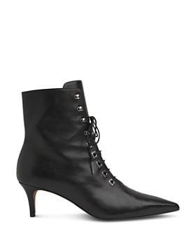 Whistles - Women's Celeste Leather Kitten Heel Booties