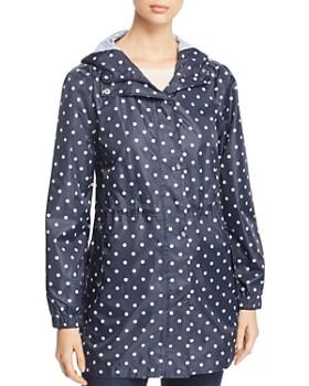 Joules - GoLightly Packable Dot Print Raincoat
