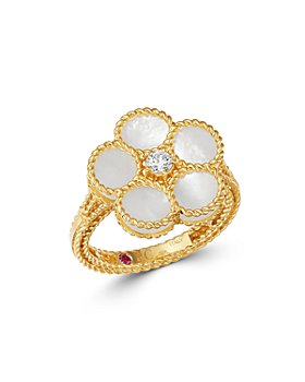 Roberto Coin - 18K Yellow Gold Daisy Mother-of-Pearl & Diamond Ring - 100% Exclusive