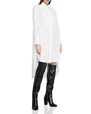 Bcbgmaxazria STRIPED HIGH/LOW SHIRT DRESS