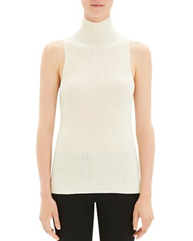 4b1737cfd679 Theory - Sleeveless Mock-Neck Sweater ...