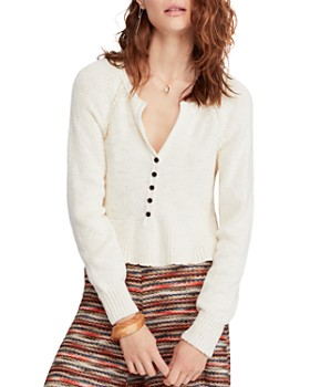0944fc1039d Free People - Cotton V-Neck Sweater ...