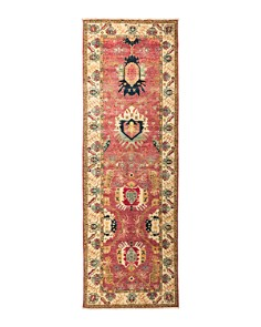 """Solo Rugs - Eclectic Ansan Hand-Knotted Area Rug, 3'3"""" x 9'10"""""""