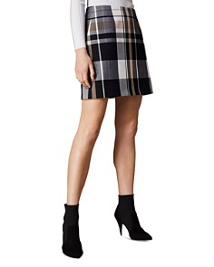 KAREN MILLEN - Check Mini Skirt