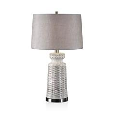 Uttermost - Kansa Distressed White Table Lamp