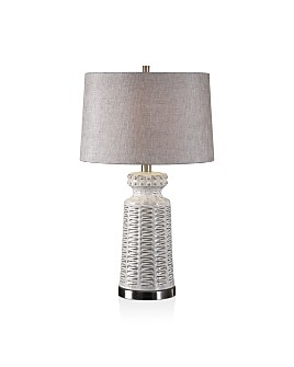 Uttermost - Kansa Distressed White Table Lamp
