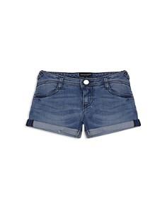 Armani - Girls' Roll-Up Denim Shorts in Dark Blue - Little Kid, Big Kid