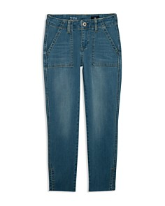 ag Adriano Goldschmied Kids - Girls' The Hartley Cropped Utility Jeans in Blue - Big Kid