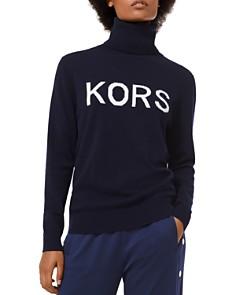MICHAEL Michael Kors - Intarsia Logo Turtleneck Sweater