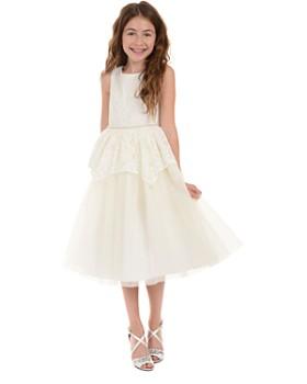 e7a31b6eb8e ... Badgley Mischka - Girls  Embellished Lace Peplum Dress - Big Kid