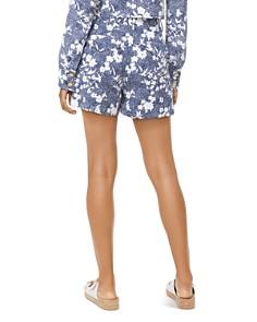 MICHAEL Michael Kors - Pleated Mixed Floral Print Shorts