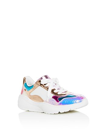 79a1202a70e STEVE MADDEN Girls' JMemory Color-Block Low-Top Sneakers - Little ...