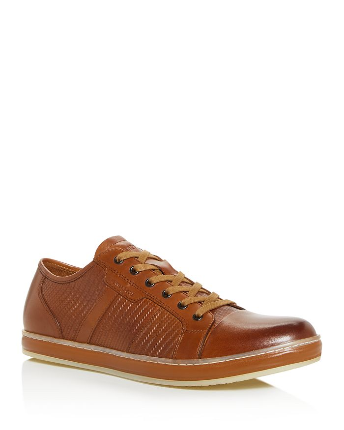 Kenneth Cole - Men's Brand Wagon Embossed Leather Low-Top Sneakers