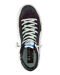 Golden Goose Deluxe Brand - Men's Slide Denim & Suede High-Top Sneakers