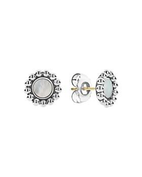 LAGOS - Sterling Silver Maya Mother-Of-Pearl Circle Earrings