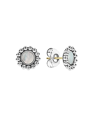 Lagos Accessories STERLING SILVER MAYA MOTHER-OF-PEARL CIRCLE EARRINGS