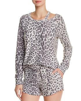 89a6ca143c CHASER - Cutout Leopard Sweatshirt ...
