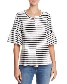 Splendid - Bell-Sleeve Striped Tee - 100% Exclusive