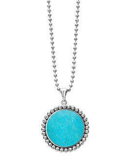 LAGOS - Sterling Silver Maya Turquoise Pendant Necklace, 34""