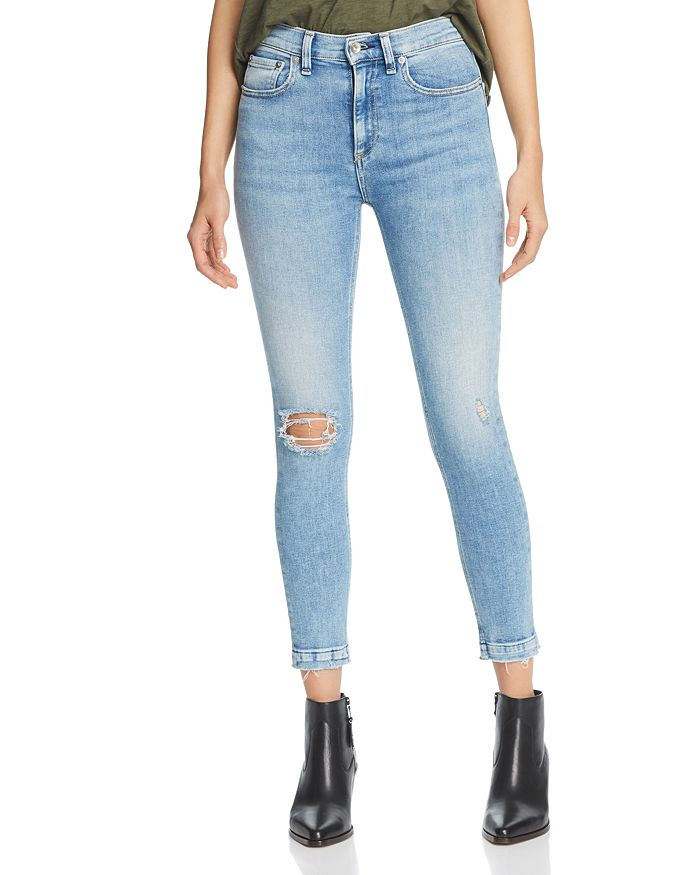 3fa080678f6bc2 rag & bone/JEAN High-Rise Distressed Cropped Skinny Jeans in Carson ...
