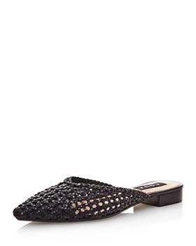 AQUA - Women s Leana Woven Leather Mules - 100% Exclusive ... 15b65cb92f68