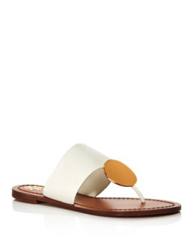 e6395cb7ed8fd Tory Burch - Women s Patos Disc Leather Thong Sandals ...