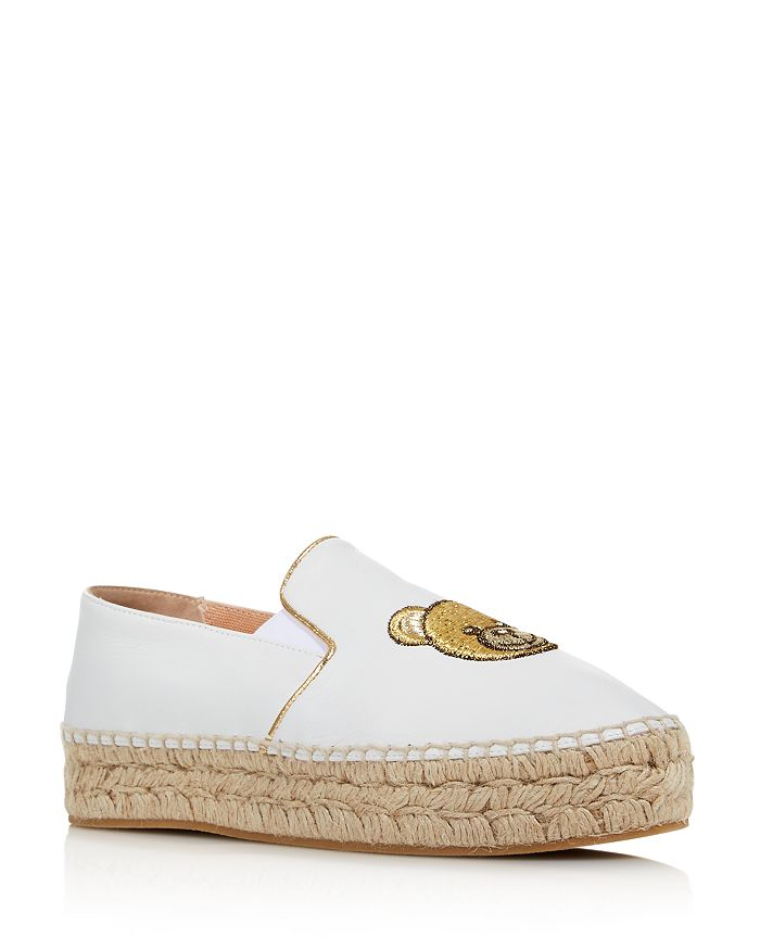 de0994aab311 Moschino - Women s Teddy Leather Espadrille Flats