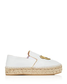 Moschino - Women's Teddy Leather Espadrille Flats