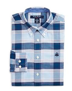 Brooks Brothers - Boys' Golden Fleece® Plaid Oxford Sport Shirt - Big Kid