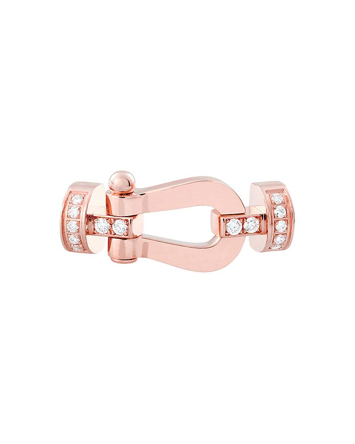Fred 18K ROSE GOLD FORCE 10 MEDIUM DIAMOND BUCKLE