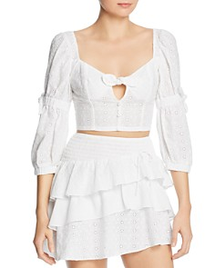 For Love & Lemons - Bora Bora Eyelet Top