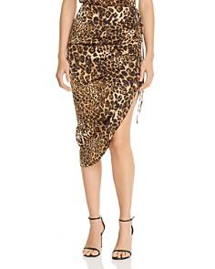 BB DAKOTA - Ruched Drawstring Leopard Print Skirt - 100% Exclusive